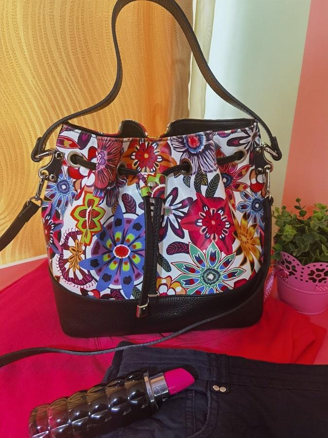 geanta Manier cu imprimeu floral