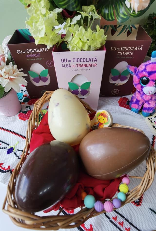 Ouă din ciocolată fără zahăr Sweeteria