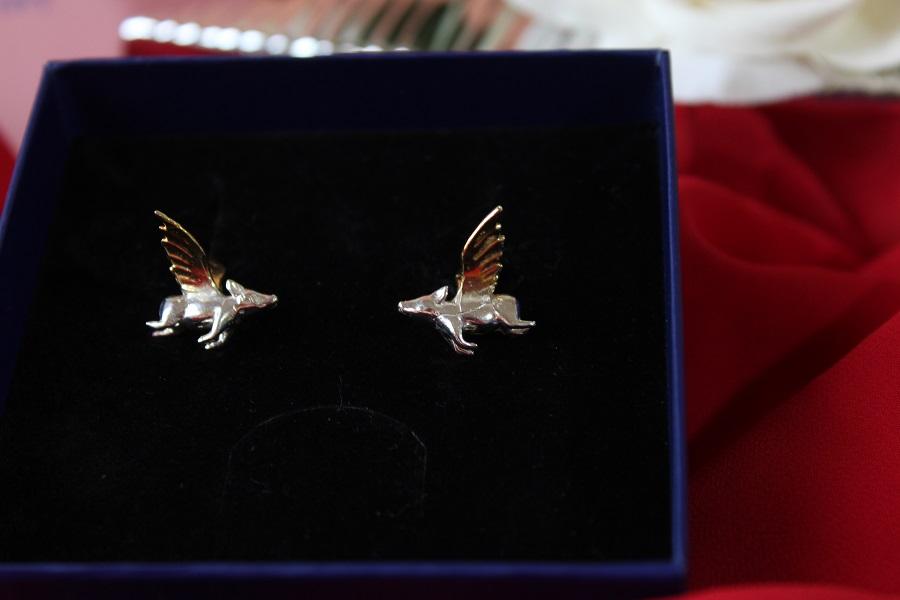 cercei argint porcușori zburători