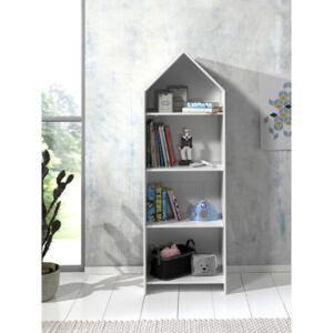 bibliotecă tip căsuță camera copiilor
